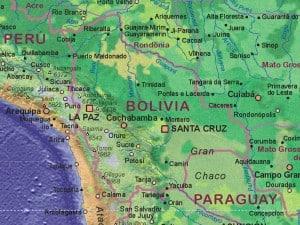 Bolivien Landkarte