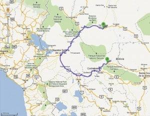 Plan der Fernstrasse durch den Regenwald der TIPNIS Region in Bolivien