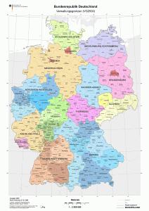 Deutschland - Länder -Bezirke - Kreise