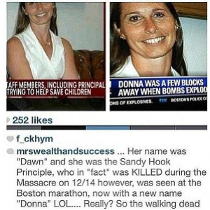 Sandy Hook Schulleiterin Dawn als Donna in Boston recycled