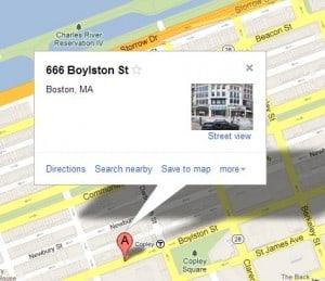 666 Boylston St Boston, MA Zielort Boston Marathon
