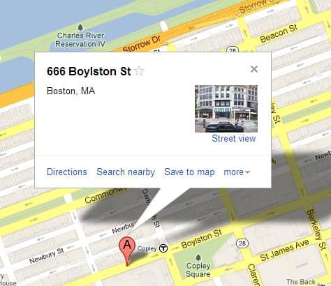 666 Boylston St Boston, MA Zielort Boston Marathon