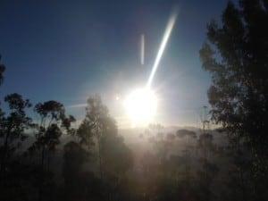 Sungazing über Sucre, Bolivien