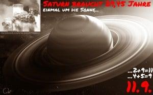 Saturn 9/11 29,45 Jahre Umlaufzeit