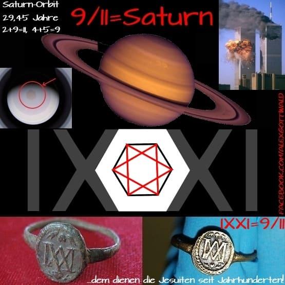 Saturn 9-11 Jesuiten Ringe Hexagon