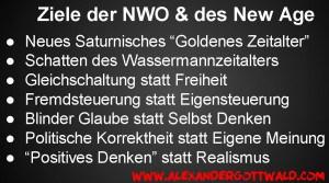 Ziele der NWO und des New Age Alexander Gottwald