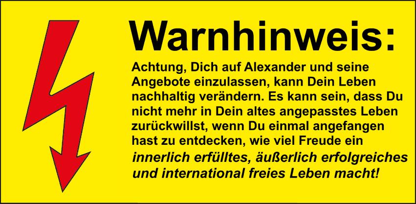 Alexander Gottwald Warnhinweis