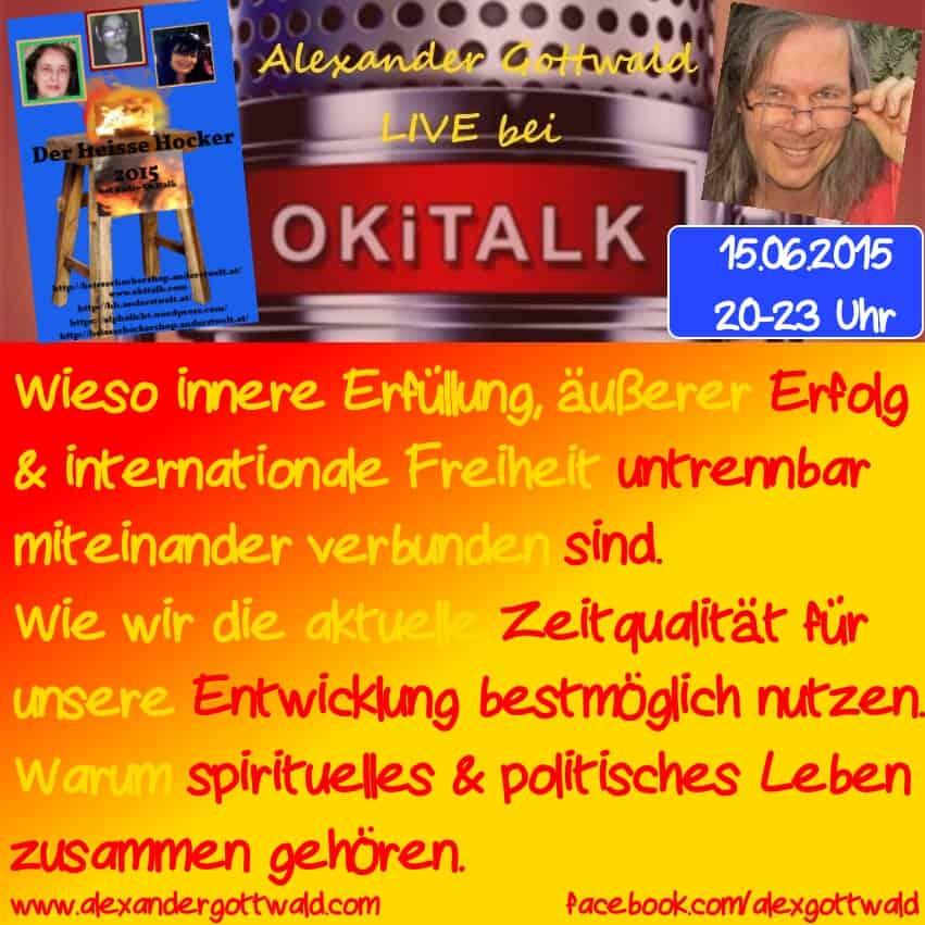 Okitalk Heißer Hocker 2015 mit Alexander Gottwald