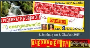Alexander TV Sendung Energietankstelle Angelina Fabian