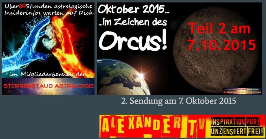 Alexander TV Sendung Sternenstaubastrologie Im Zeichen des Orcus