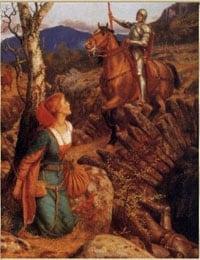 Erwachen statt Vision guter Ritter Beschützer des Weiblichen