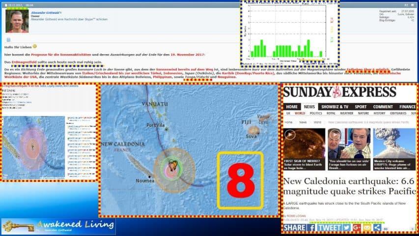 Awakened Living Erdbeben Prognose Volltreffer 8
