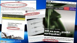 Erdbebenprognosen unmöglich Presse
