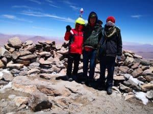 Auf dem Gipfel des Uturuncu in 6.011 Metern Höhe