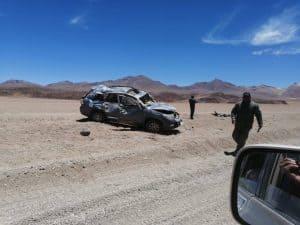 Unfall Siloli Wüste