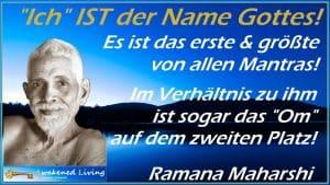 Ramana Maharshi Ich ist der Name Gottes