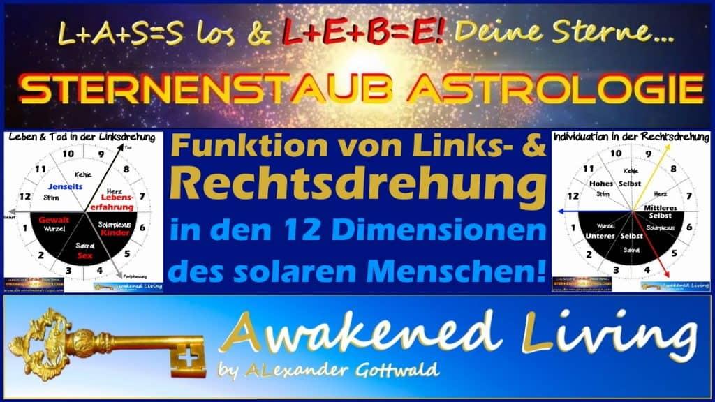 Funktion Links & Rechtsdrehung in den 12 Dimensionen des Solaren Menschen
