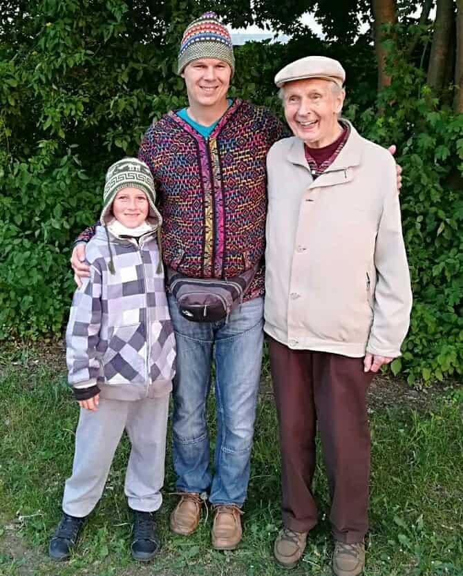 Abschied von meinem Vater Günter Gottwald mit Alexander Gottwald und Django Gottwald 2018 in Delmenhorst