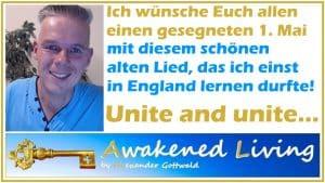 Alexander Gottwald Segenswünsche zum 1. Mai mit einem Lied Unite