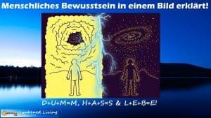 D+U+M=M H+A+S=S L+E+B=E! in einem Bild erklärt