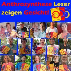 Anthrosynthese Bücher Leser zeigen Gesicht