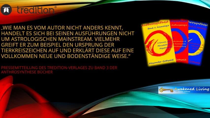 Anthrosynthese Bücher Pressemitteilung Tredition Verlag Band 3 A