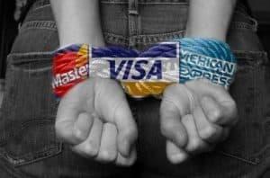 Freiheit oder Freiheiten Kreditkarten Sklave