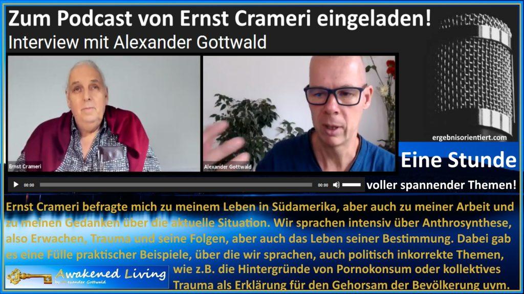 Alexander Gottwald bei Ernst Crameri im Podcast