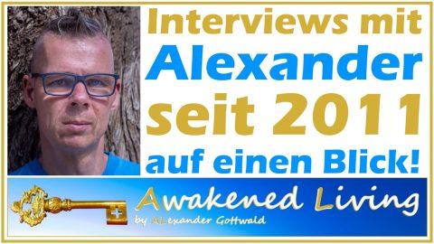 Interviews mit Alexander Gottwald seit 2011 auf einen Blick
